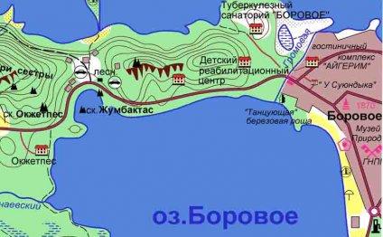 Карта с базами отдыха в